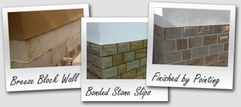 Breeze Block to Stone Cladding