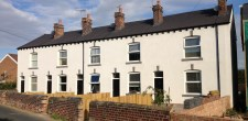 Case studies wall coatings rendering external wall for Whats a terraced house
