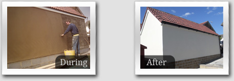 Before and After Cement Render